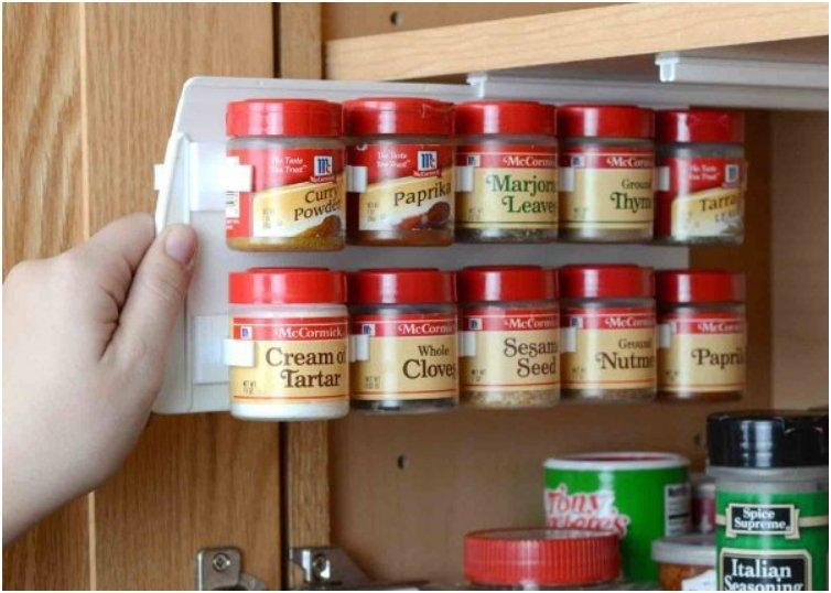 Take a picture of your spice drawer or rack before heading out to restock so you dont end up with 5 bottles of dill weed and no cinnamon