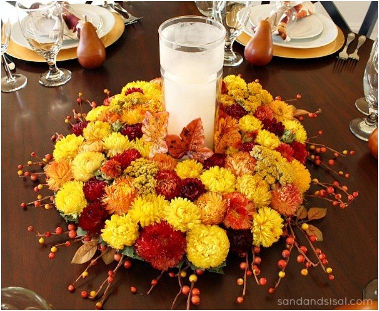 Thanksgiving-Centerpiece-Dried-Flower-Fall-Wreath