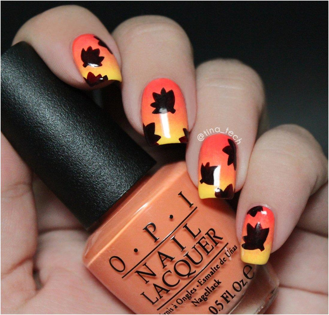 16 Cute And Easy Thanksgiving Nail Art Tutorials - Cute And Easy Thanksgiving Nail Art Tutorials