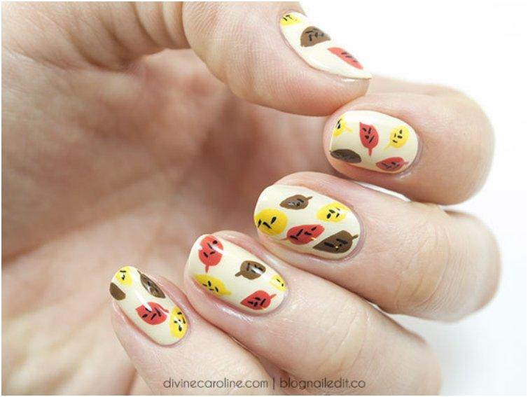 16 Cute And Easy Thanksgiving Nail Art Tutorials