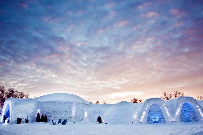 montreal's snow village, canada
