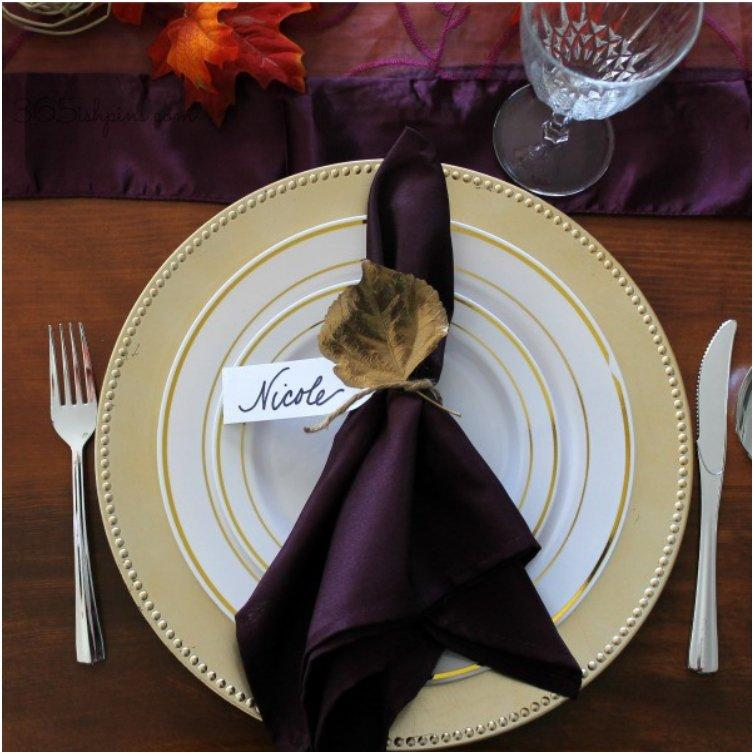 20 Lovely Last Minute DIY Thanksgiving Place Cards