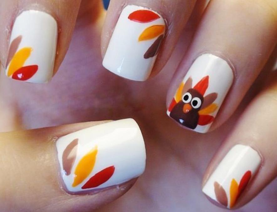 - 16 Cute And Easy Thanksgiving Nail Art Tutorials