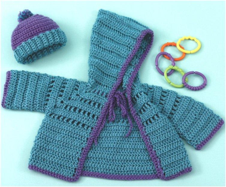 Baby Hoodie Knitting Pattern Free : 20 Free & Amazing Crochet And Knitting Patterns For Cozy Baby Clothes