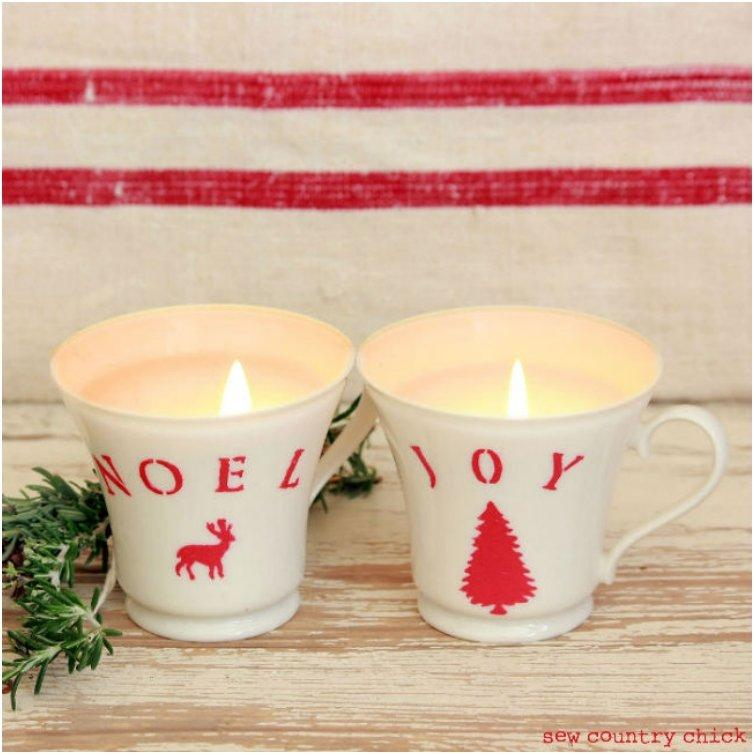 CHRISTMAS TEACUP CANDLES