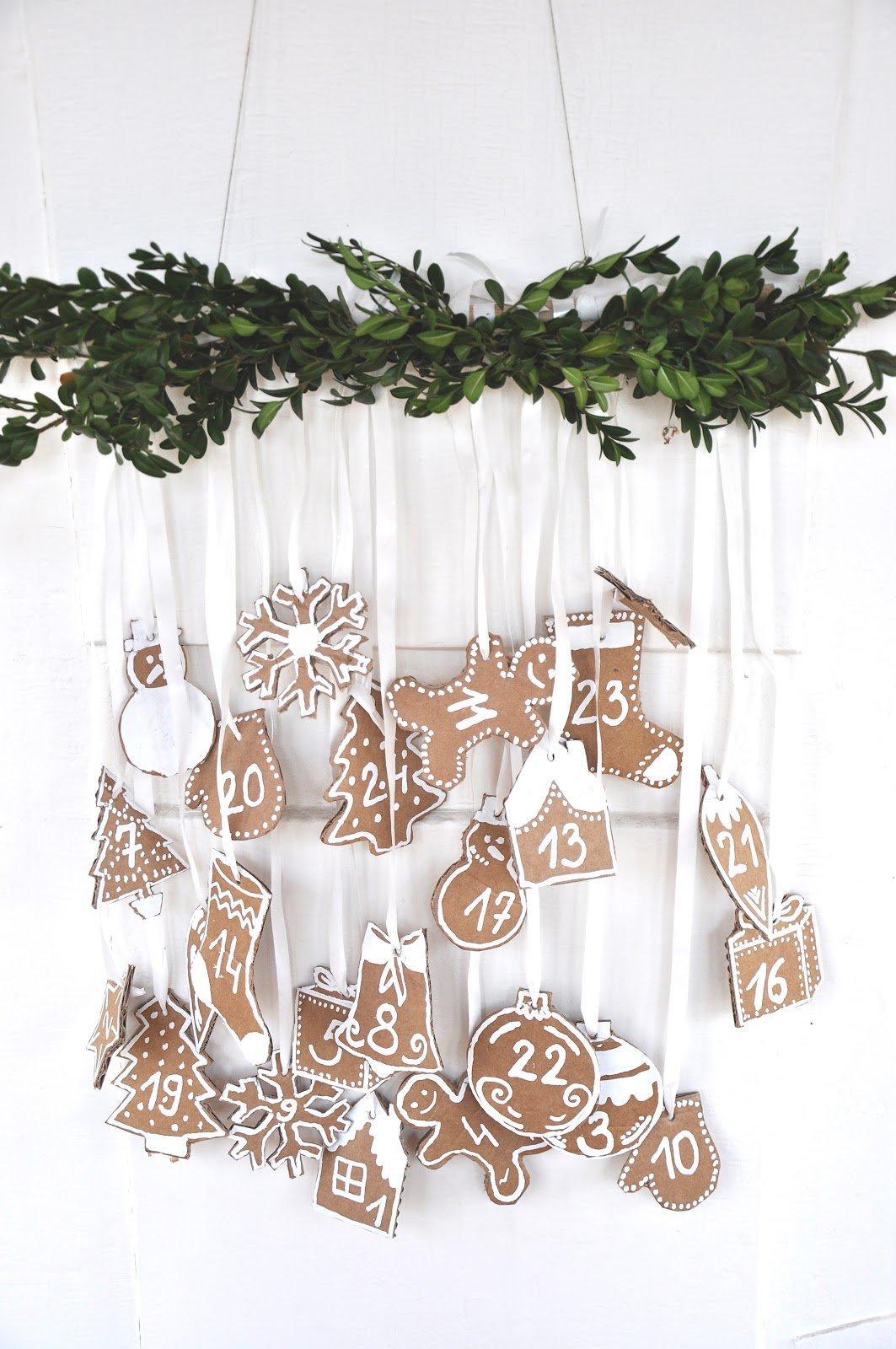 Cardboard Ornamet Advent Calendar