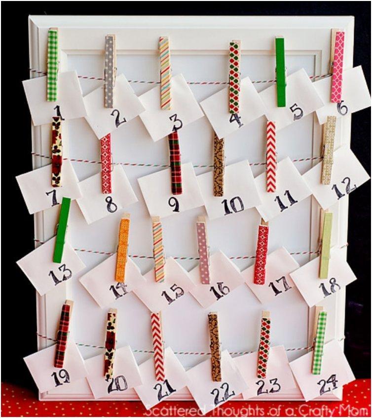 Clothes Pin Advent Calendar