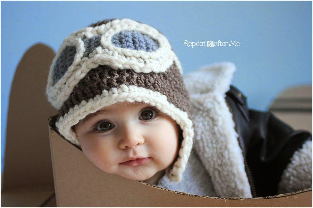Crochet Newborn Aviator Hat Pattern : 22 Tutorials And Patterns For Adorable Winter Hats For Kids