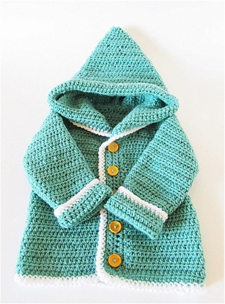 Crochet Baby Sweater : Pin Baby Cardigan Pattern Crochet Baby Sweater Baby Crochet Pattern on ...