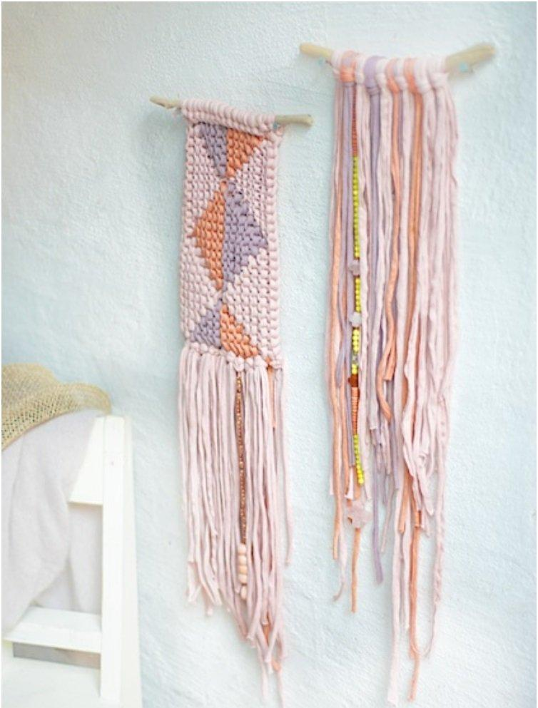 18 creative diy woven wall hangings for a cozier home top 18 creative diy woven wall hangings for a cozier home prinsesfo Choice Image