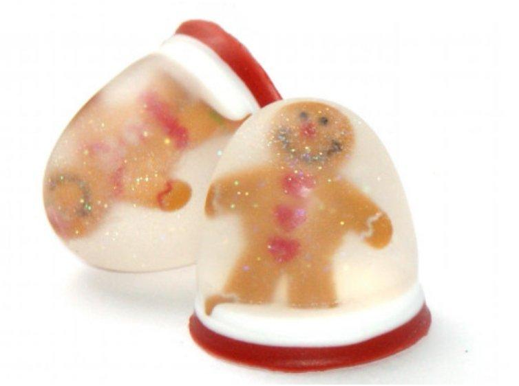 Gingerbread Men Snow Globe Soaps