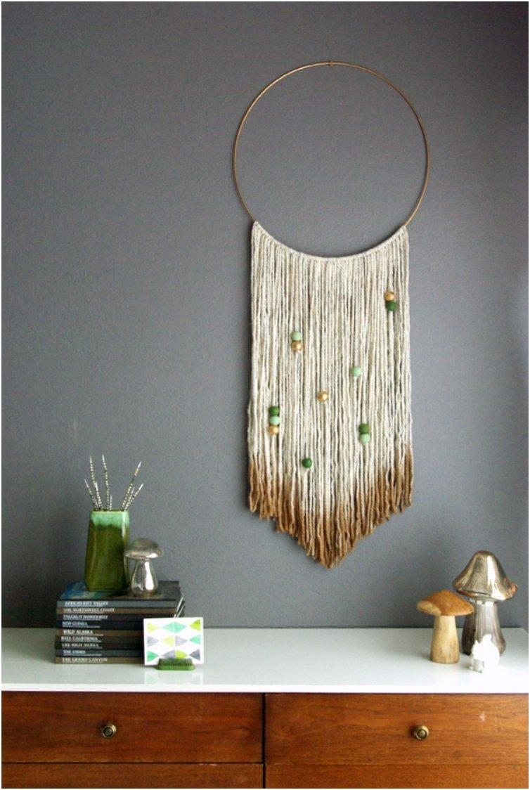 Top 18 creative diy woven wall hangings for a cozier home for Handmade home decorations