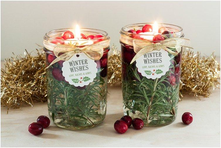 Enjoy christmas by soft candle light with 15 diy candle crafts for How to make christmas candle holders