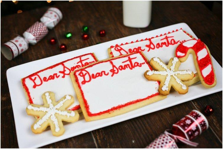 Letter to Santa Butter Cookies
