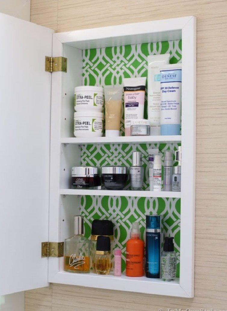 Medicine-Cabinet-Makeover-with-Gift-wrap