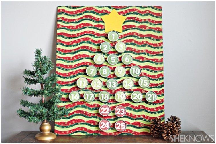 Metal Tins Tree Advent Calendar