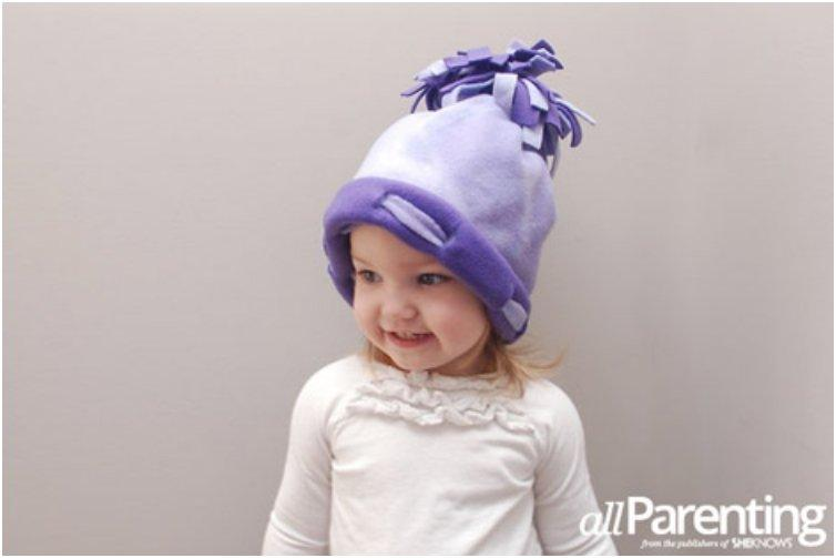 NO-SEW FLEECE HAT FOR KIDS 4