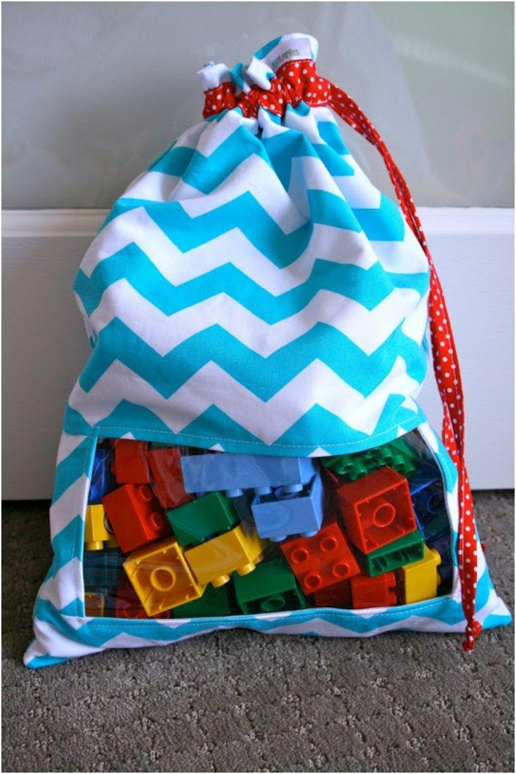 Peek-A-Boo Toy Sack Tutorial