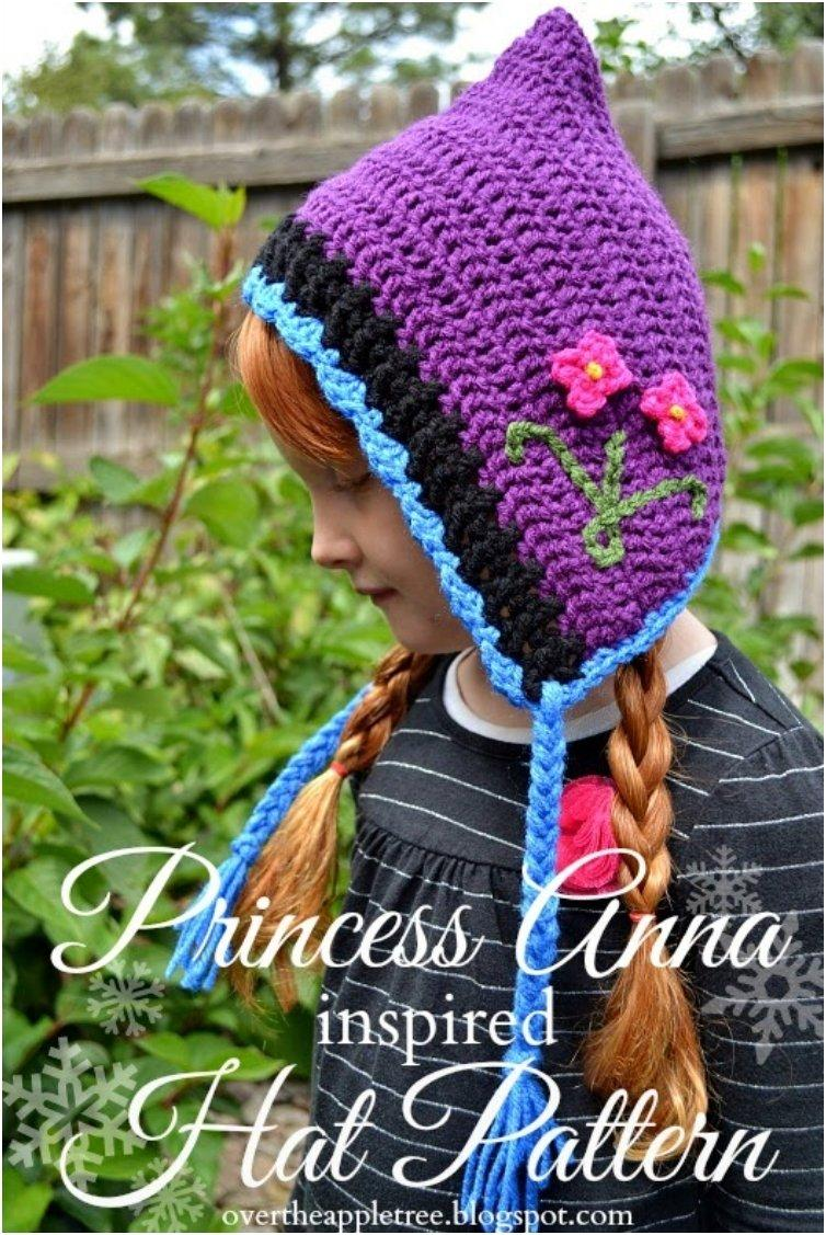Princess Anna Crochet Hat