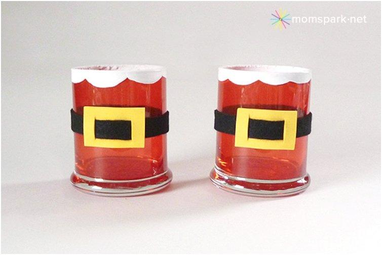 Stained Santa Votives