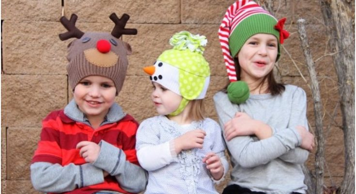 Christmas Hats For Kids.22 Tutorials And Patterns For Adorable Winter Hats For Kids