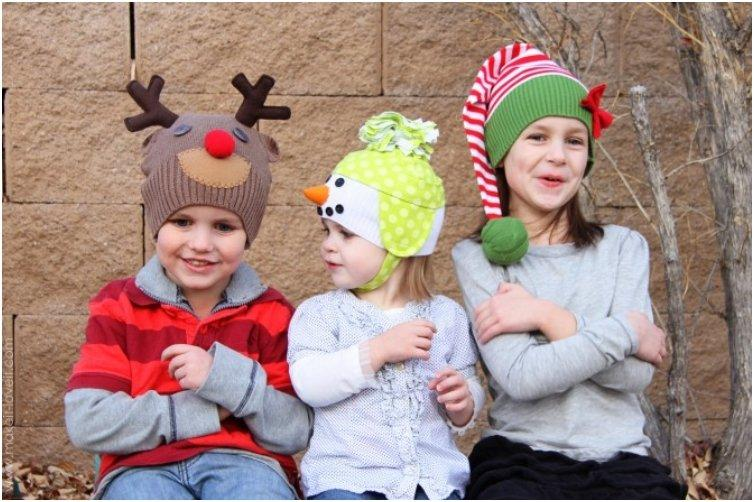 Upcycled Christmas Hats