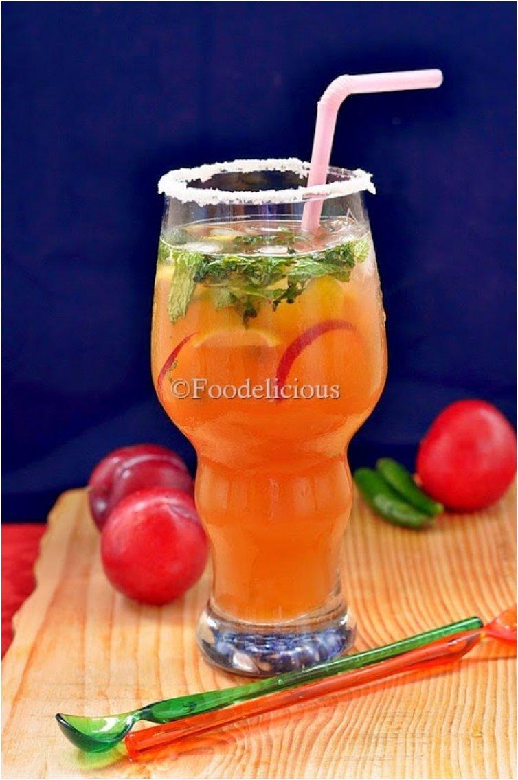 Virgin Peach-Plum-Chilli Mojito