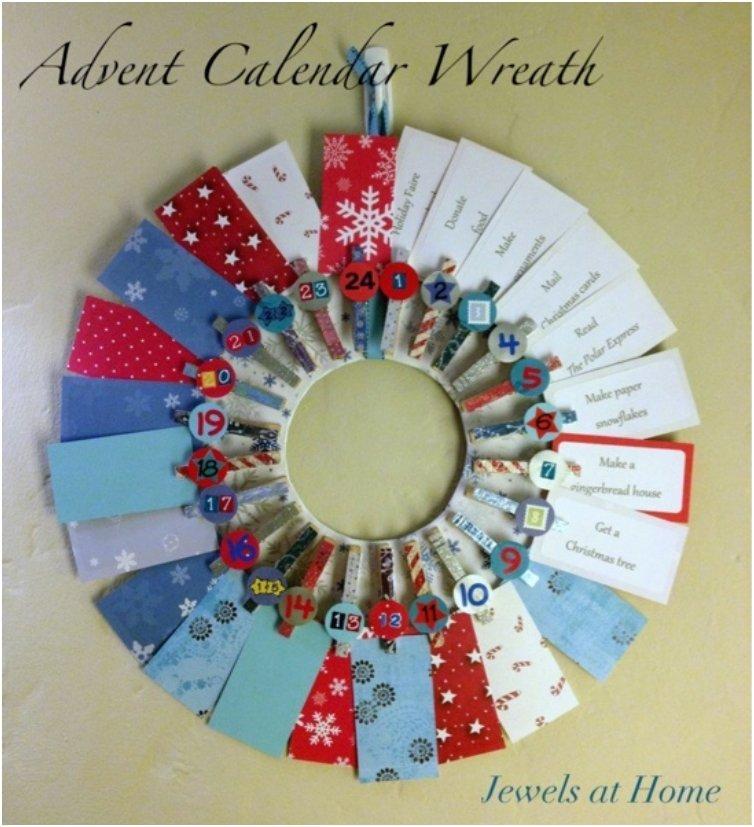 advent calendar wreath