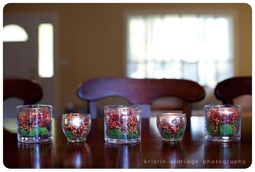christmas glass candle decorations