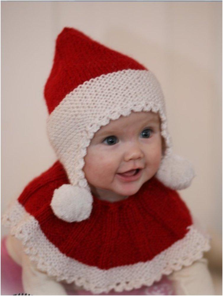 Knitting Pattern Christmas Hat : 20 Free & Amazing Crochet And Knitting Patterns For Cozy Baby Clothes