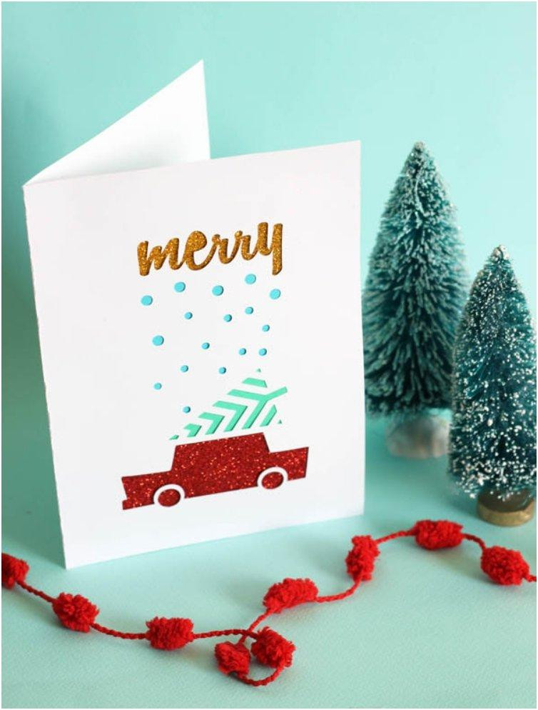 Old-fashioned But Thoughtful, 18 DIY's For Christmas Cards