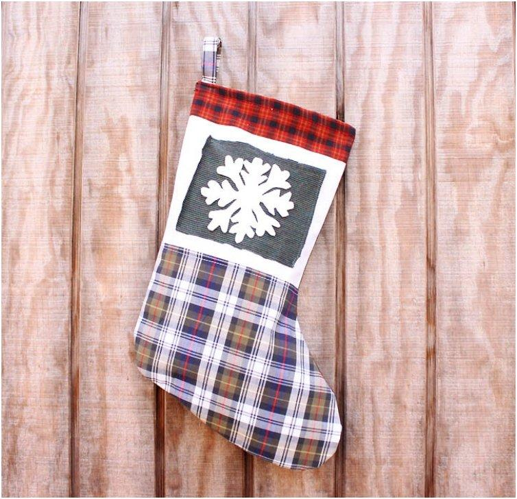rustic upcycled christmas stockings