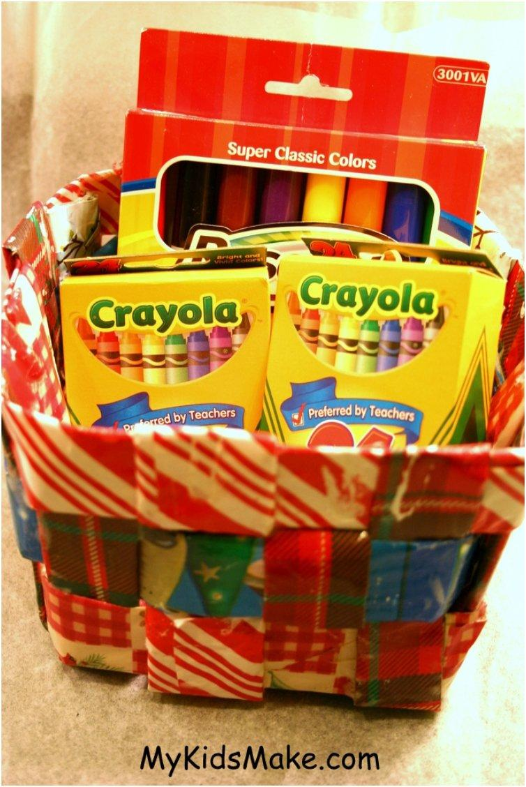wrapping paper basket