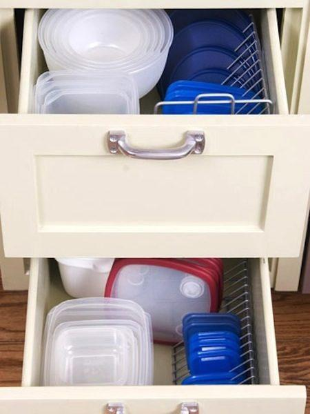 1. CD Rack for organizing your Lids