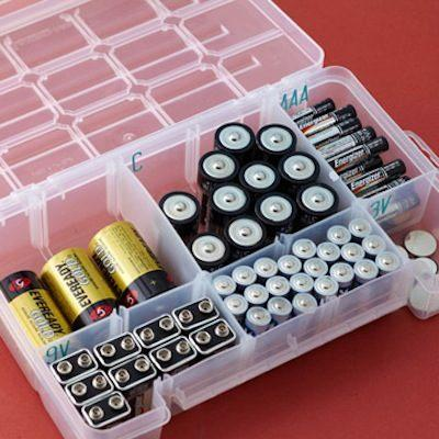 12. Tackle Box Battery Storage