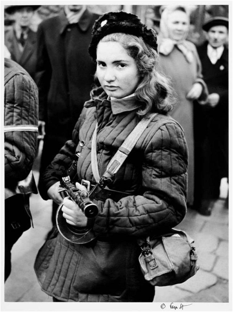 15-year-old girl, known only as Erika, partook in the Hungarian Revolution of 1956,