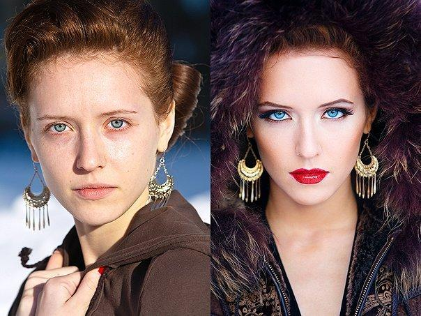 """13 Impressive """"Before & After"""" Makeup Photos. Surprised What Makeup can Do!"""