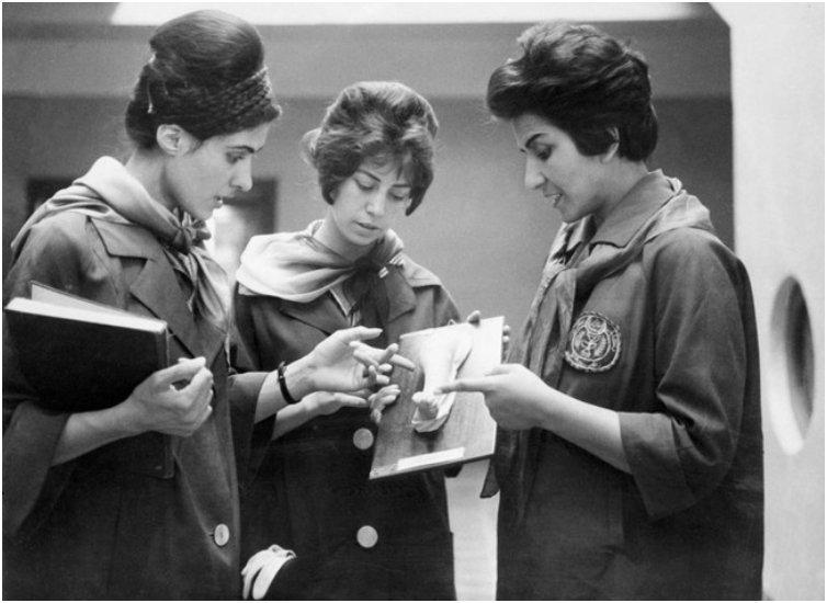 Afghan women studying medicine. [1962]