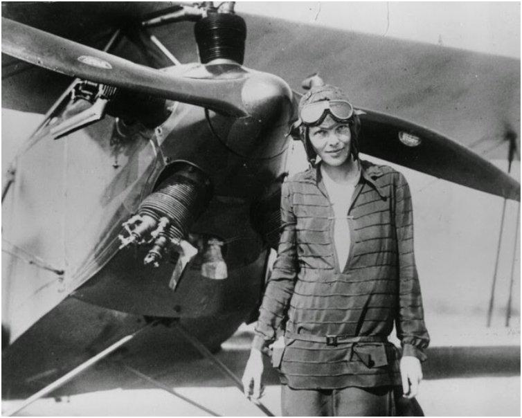 Aviator Amelia Earhart after becoming the first woman to fly an aircraft across the Atlantic Ocean. [1928]