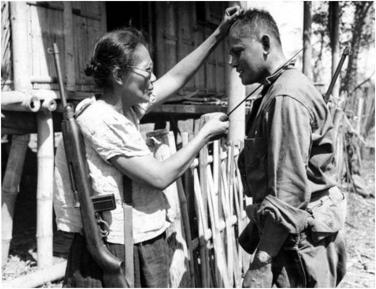 Captain Nieves Fernandez is the only known female guerilla leader in the Philippines
