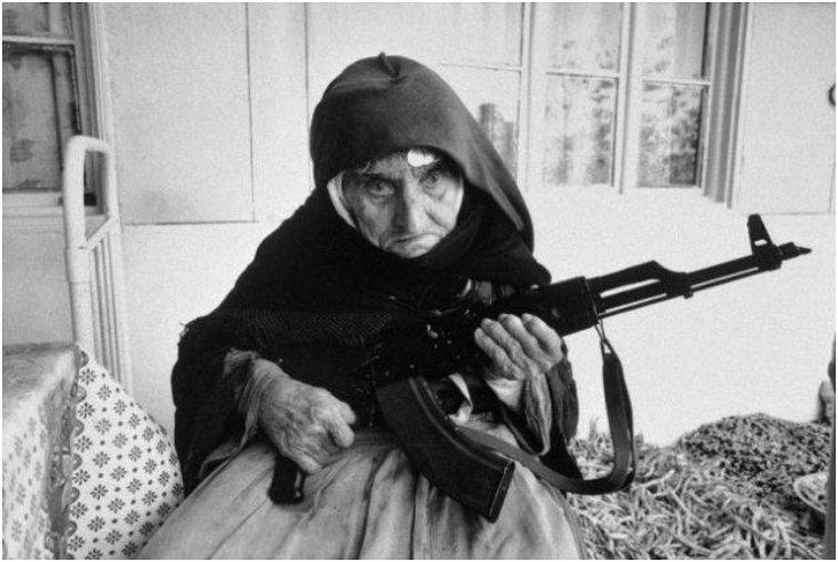 Despite being 106 years old, this Armenian woman is prepared to defend her home--with an AK-47