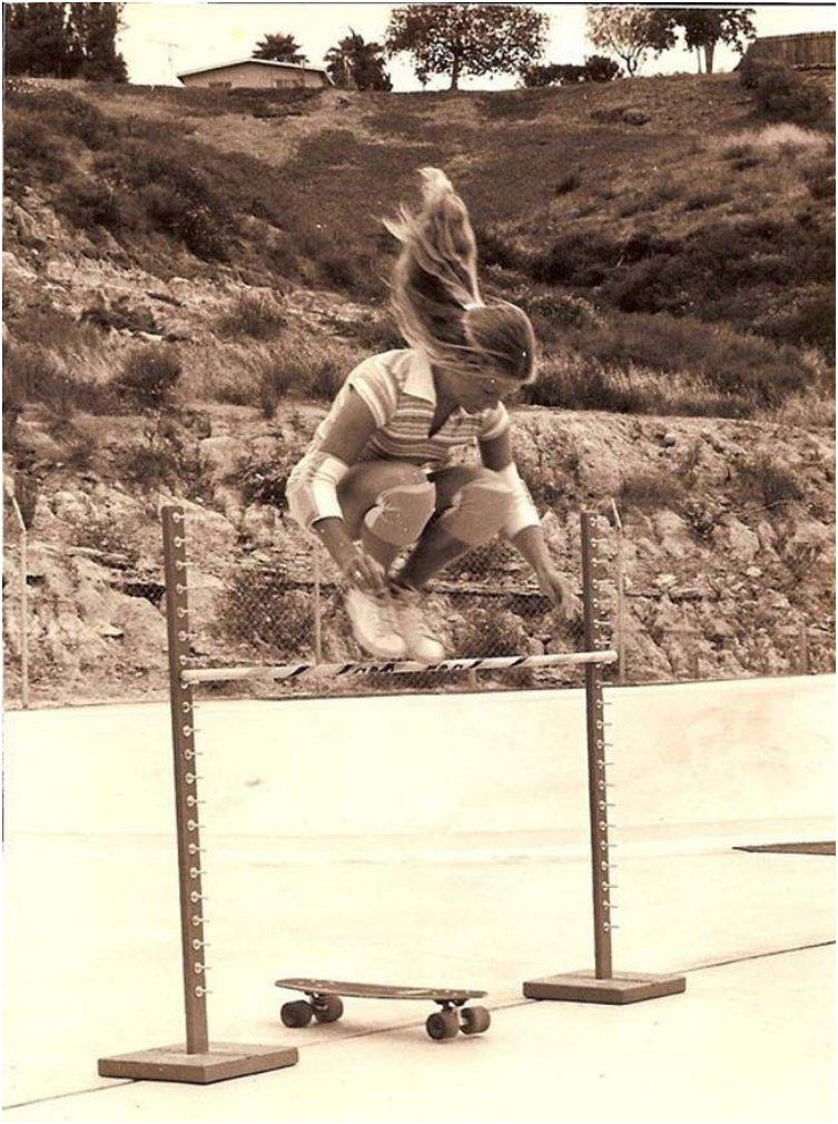Ellen O'Neal was one of the first female professional skateboarders in the late 1970s