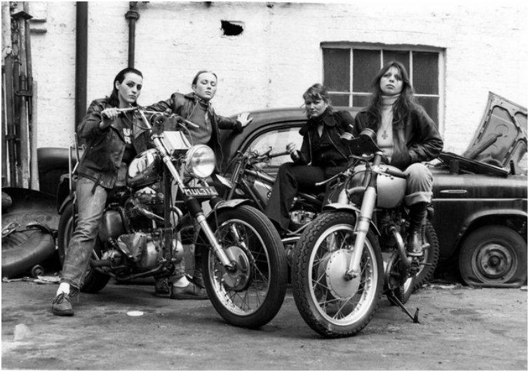 Members of the Hell's Angels gang. [1973]