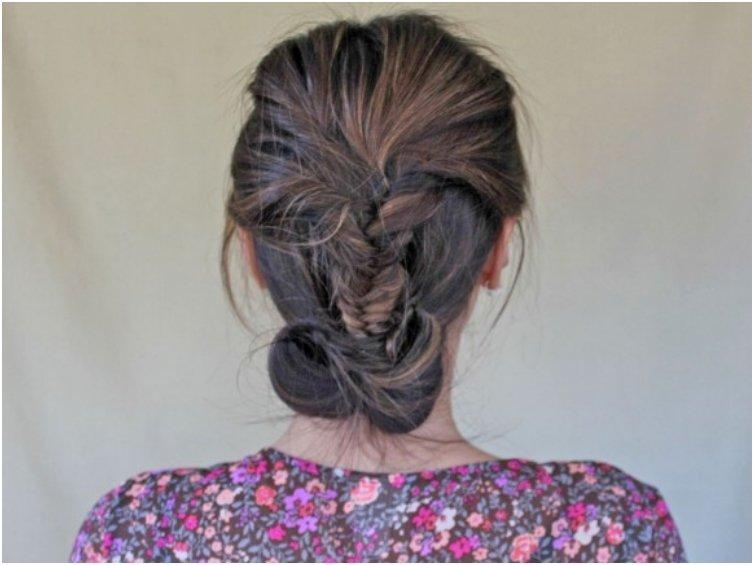 Messy Braided Chignon