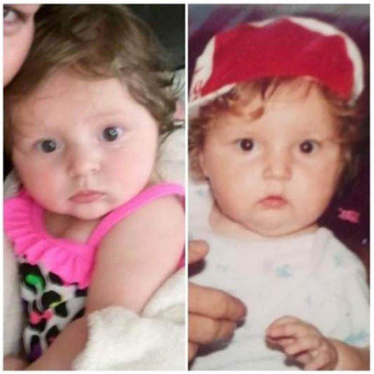 My daughter Brynn and I both at 6 months