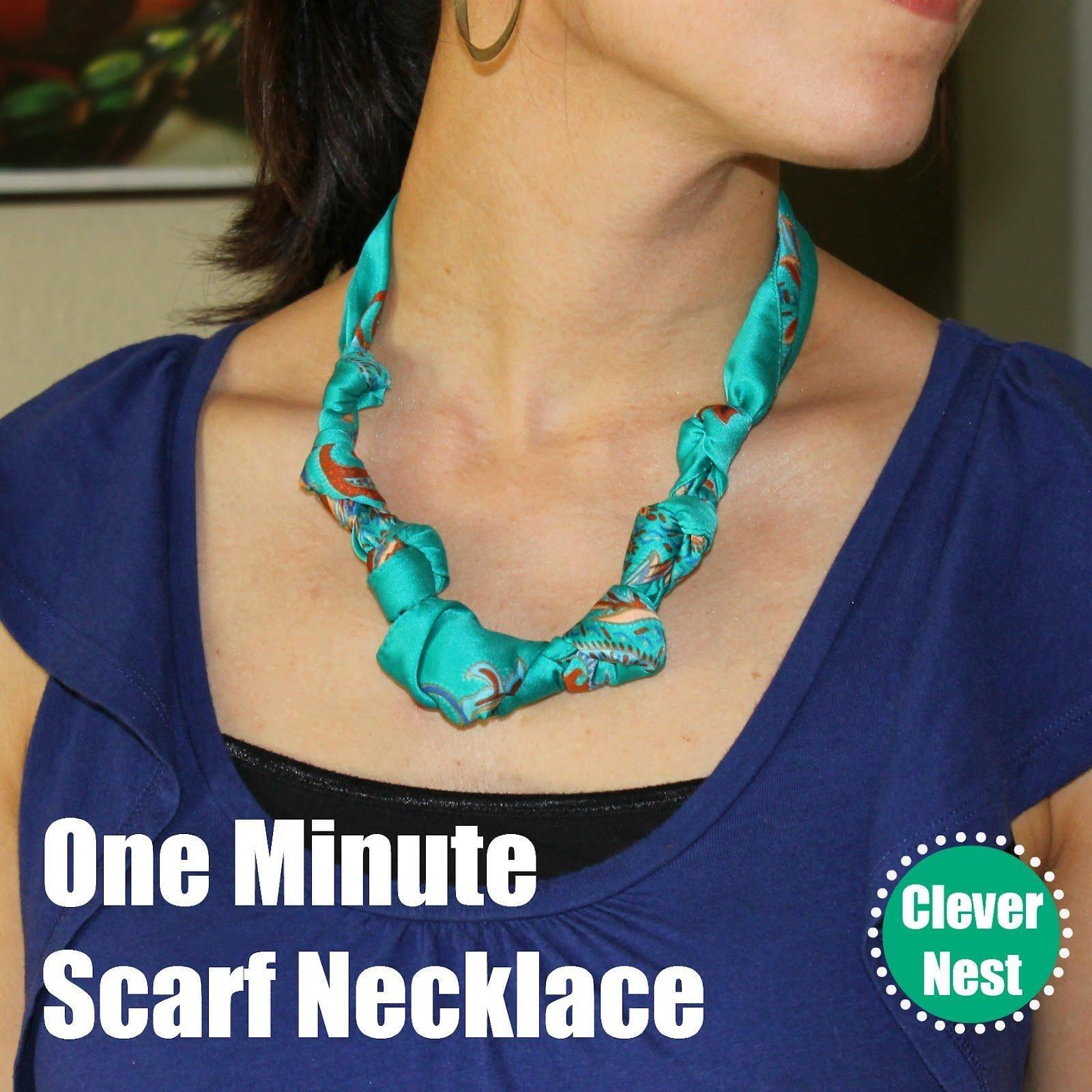 One Minute Scarf Necklace