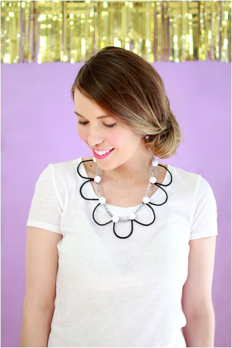Pipe Cleaner Statement Necklaces