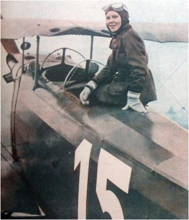 Sabiha Gökçen was a Turkish aviator and is credited with being the first female fighter pilot at the age of 23