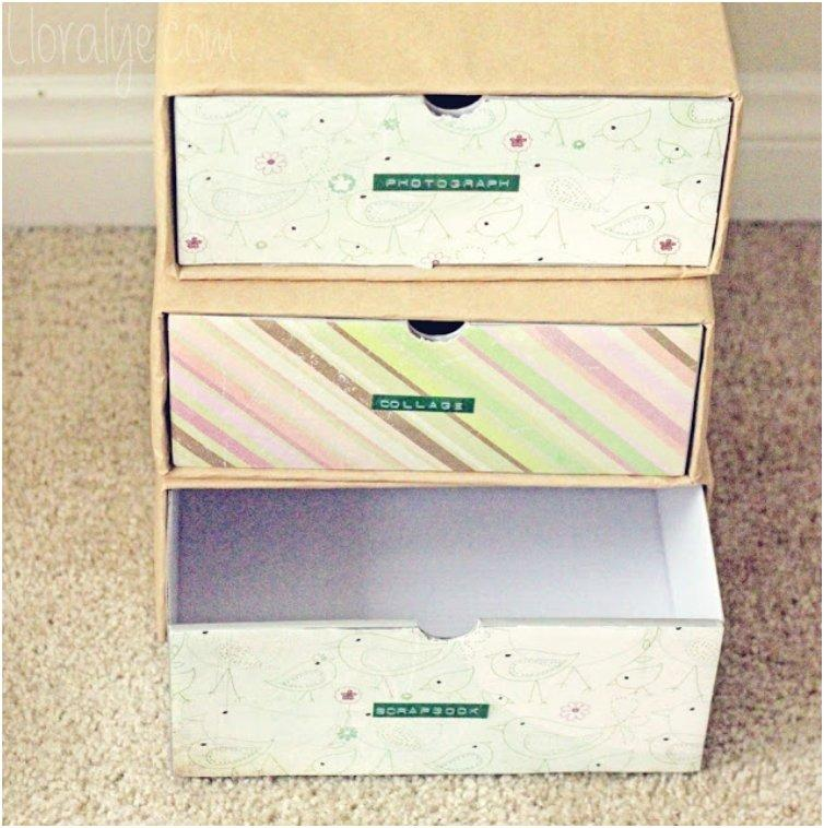 Shoebox Organizer Drawers