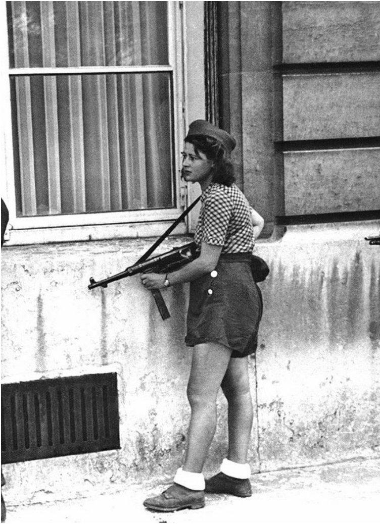 Simone Segouin a French resistance fighter during WWII